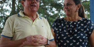Professores Wilton Paulino Júnior e Sandra Paulino