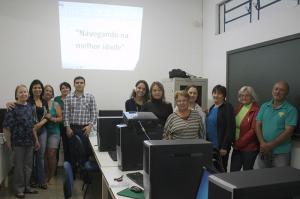 A diretora Sandra Paulino acompanhou o início da segunda etapa do projeto