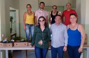 Graci Acadrolli Tozzo, Prof. Wilton Paulino e Sec. SEDEMA Alessandra Cristina Conforte Silva, na abertura dos trabalhos. Estamos produzindo a GALERIA DE FOTOS