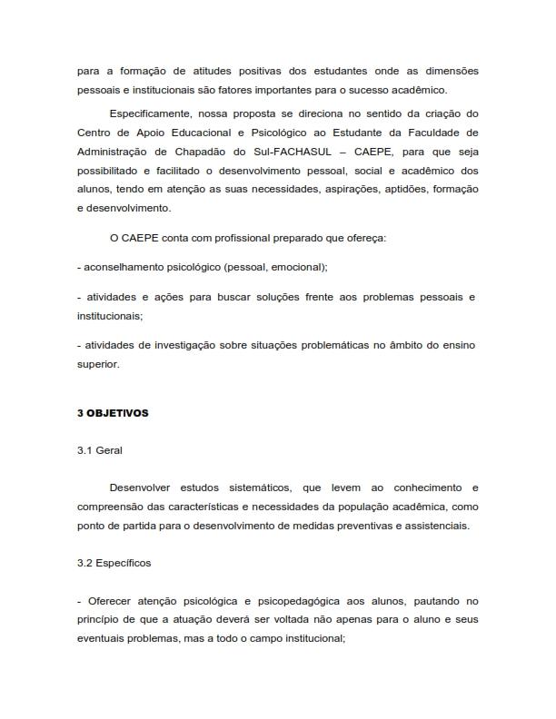 Projeto do Centro de Apoio Educacional e Psicológico ao Estudante - CAEPE_006
